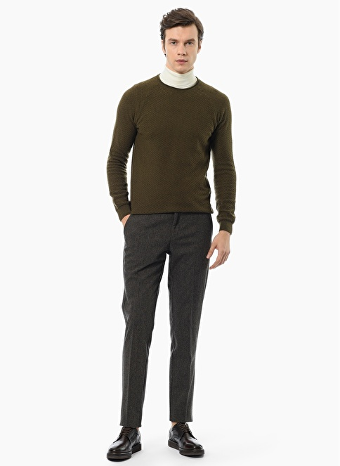 NetWork Slim Fit Pantolon Kahve
